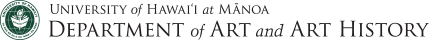 Department of Art and Art History: University of Hawaii at Manoa logo