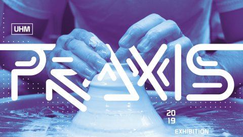 2019 BFA graphic image, photo of ceramic artist's hands