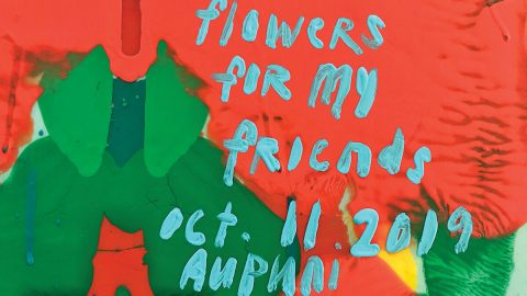 "Announcement for ""Flowers for my Friends"" exhibition"