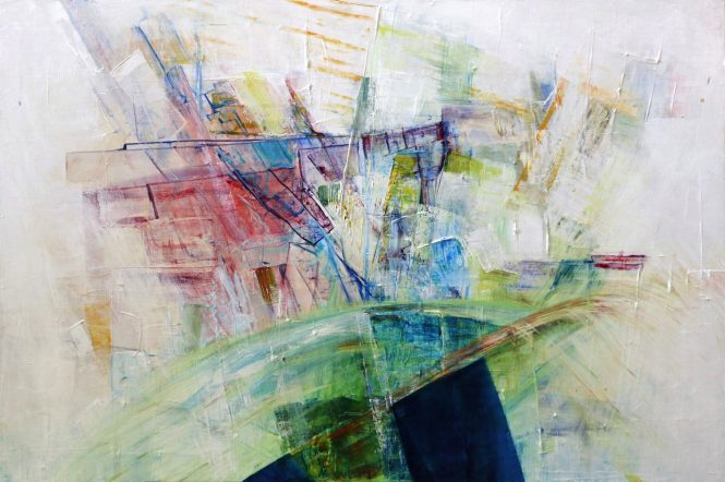 Abstract painting by Mary Kim