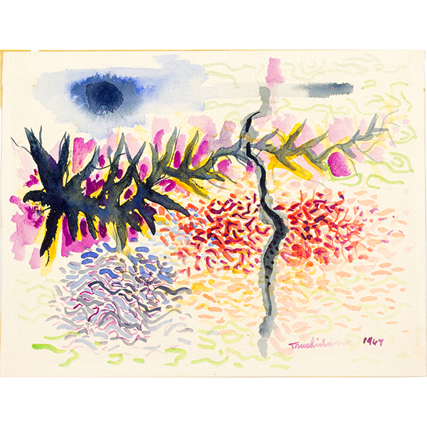 HARRY TSUCHIDANA ink on paper artwork