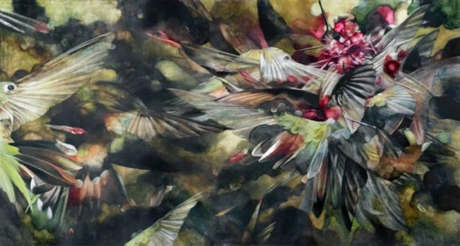 painting titled sky burial by emily mcilroy