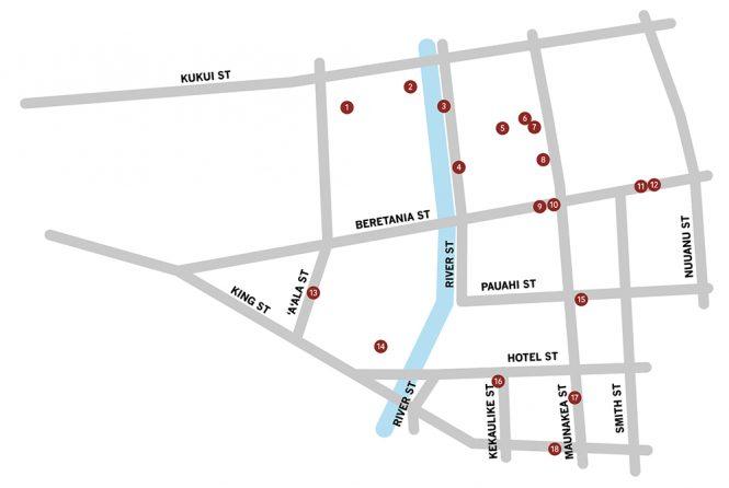 Honolulu Chinatown Street Map