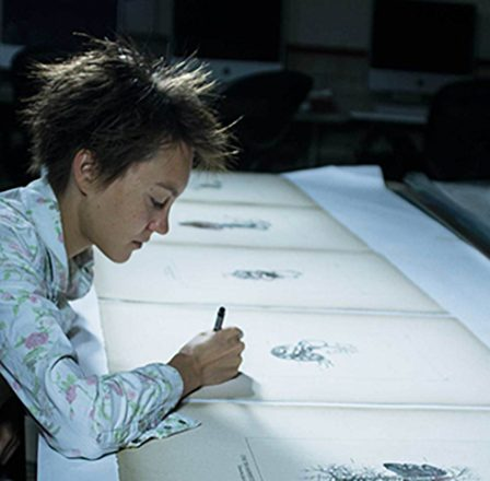 lauren trangmar drawing on paper