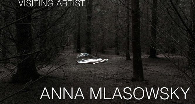 artist talk ANNA MLASOWSKY Flier