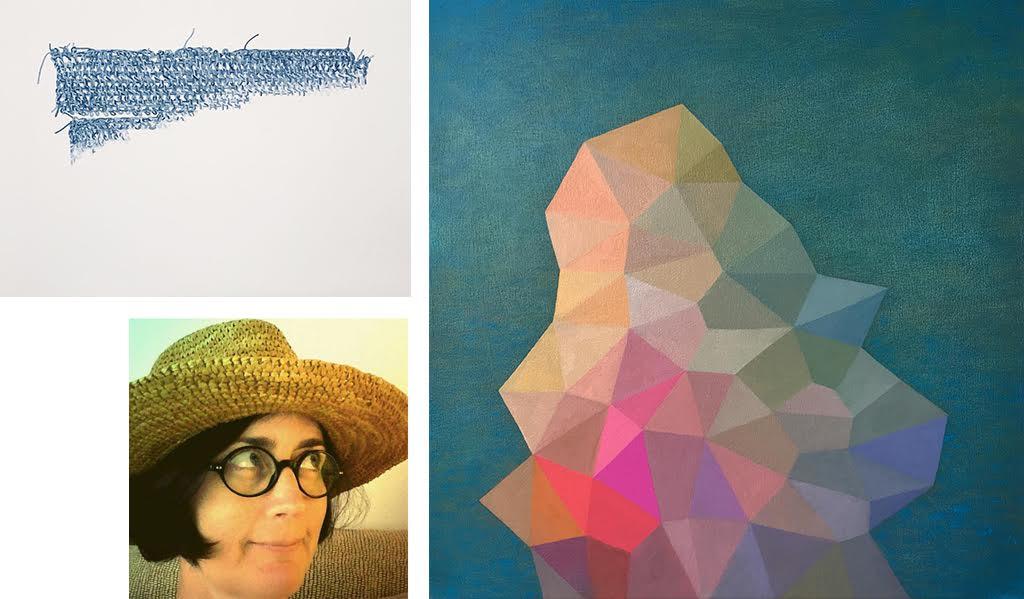 Wendy Kawabata headshot and artwork samples